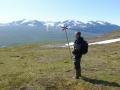 Uffe finner vägen, Kårsatjåkka i bakgrunden