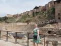 Romersk amfiteater och Morisk borg på ett bräde - Rationellt turistande i Malaga