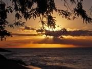 Solnedgång över Karibiska Sjön