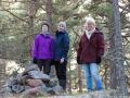 Lotta, Agnes och Anna på högsta toppen
