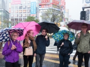 Ett regnigt Shibuja
