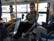 Erik åker buss