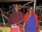 Massajerna med sina spjut