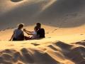 Sygga foton i sanden