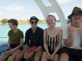 I snorkelbåten
