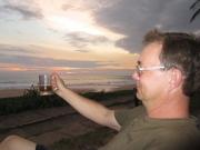 Kvällsöl vid Indiska oceanen