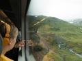 Tåget på väg under fjället