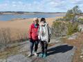 Anna & Lotta vid fågelsjön