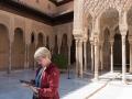 Turist i Nasridiska palatsen