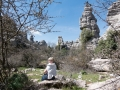 Picknick på kalkstensberg på 1100m