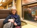 På tåg mot Brugge