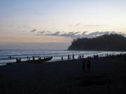 Solnedgång över Samaras strand