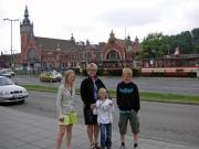 Utanför stationen i Gdansk
