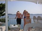 Efter glasspaus, redo för nya insatser i adriatiska havet