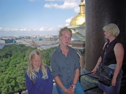 Damerna uppe på Isakkatedralen