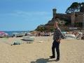 Lunchstopp längst Costa Brava
