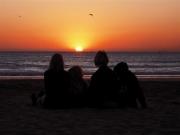 Den marockanska solen säger god natt