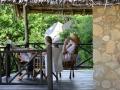 På verandan