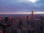 Solnedgång över Manhattan