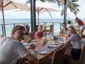 Frukost efter båtturen, på hotel Coco de Mer