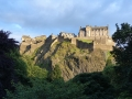 Kvällsutsikt över Edinburgs slott