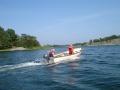 Erik och Ylva i båt